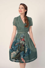 Load image into Gallery viewer, Grace Kelly Green Crane Dress