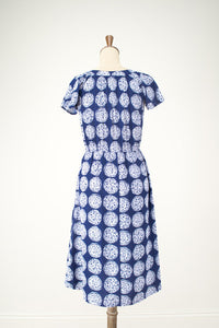 Maya Navy Dress - Elise Design