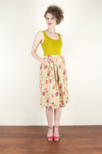 Load image into Gallery viewer, Tropical Mustard Linen Skirt - Elise Design