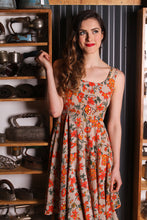 Load image into Gallery viewer, Majorie Mustard Floral Dress - Elise Design