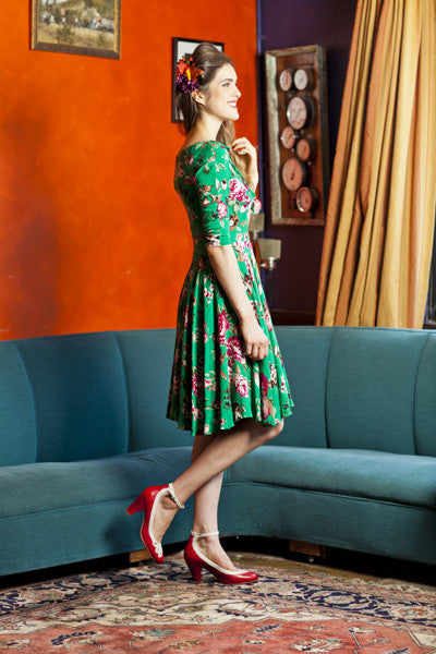 Louisa Green Floral Elise Design $100.00 Dresses