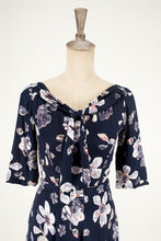 Load image into Gallery viewer, Louisa Navy Floral Dress - Elise Design