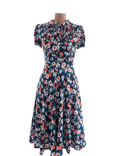 Load image into Gallery viewer, Peach Rose Red Floral Dress