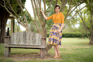 Ruby Brown & Mustard Skirt