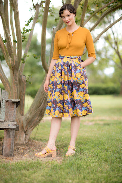 Ruby Brown & Mustard Skirt Elise Design $109.00 Skirts