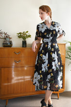 Load image into Gallery viewer, Kassandra White Lily Floral Dress