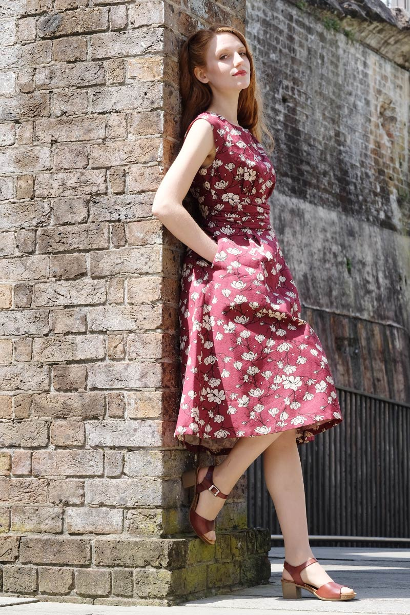 Magnolia Burgundy Dress