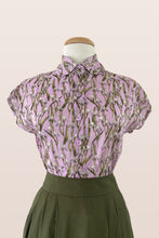 Load image into Gallery viewer, Minki Lilac Tulips Cotton Blouse