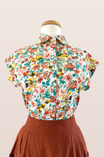 Load image into Gallery viewer, Minki Dusty Pink & Turquoise Linen Blouse