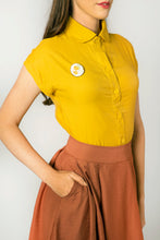 Load image into Gallery viewer, Minki Mustard Blouse