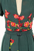 Grace Kelly Green Floral Dress - Elise Design