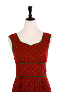 Chloe Tea Red Dress - Elise Design