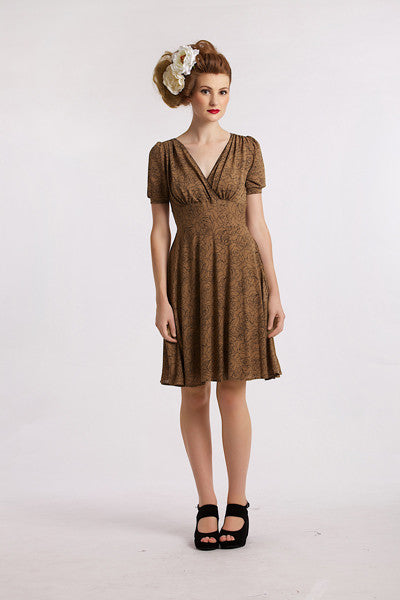 Brown Roses Jersey Elise Design $80.00 Dresses