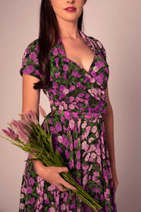Pansy Lilac Floral Dress
