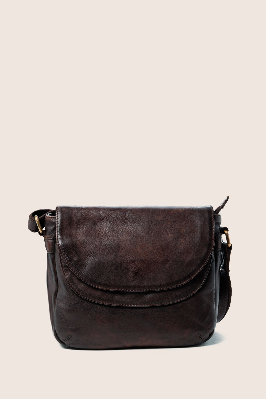 Astrid Double Flap Bag - Brown