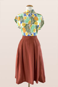 Roxy Rust Tussah Skirt