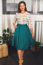 Load image into Gallery viewer, Roxy Teal Linen Skirt