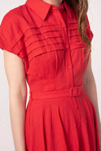Load image into Gallery viewer, Sammy Red Linen Dress