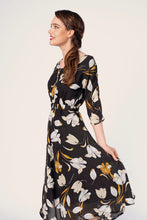 Load image into Gallery viewer, Sienna Mustard & Black Floral Dress