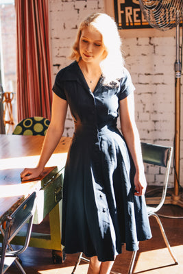 Loretta Black Dress Elise Design $175.00 Dresses