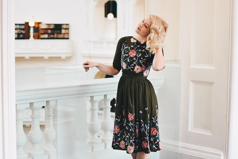 Serenity Green Embroidery Dress