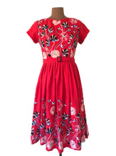 Load image into Gallery viewer, Serenity Red Embroidery Dress