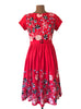 Serenity Red Embroidery Dress