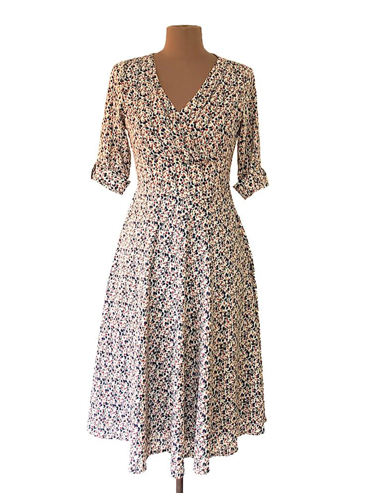 Mackenzie Cream Floral Dress Elise Design $179.00 Dresses