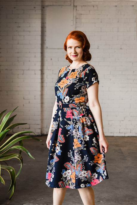 Delilah Navy Floral Dress