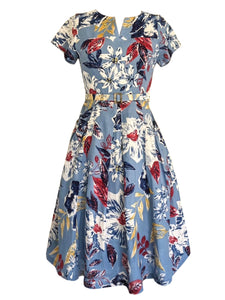 Delilah Blue Floral Dress