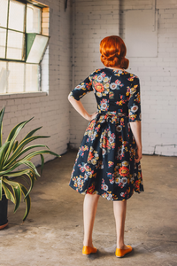 Laila Black Floral Dress