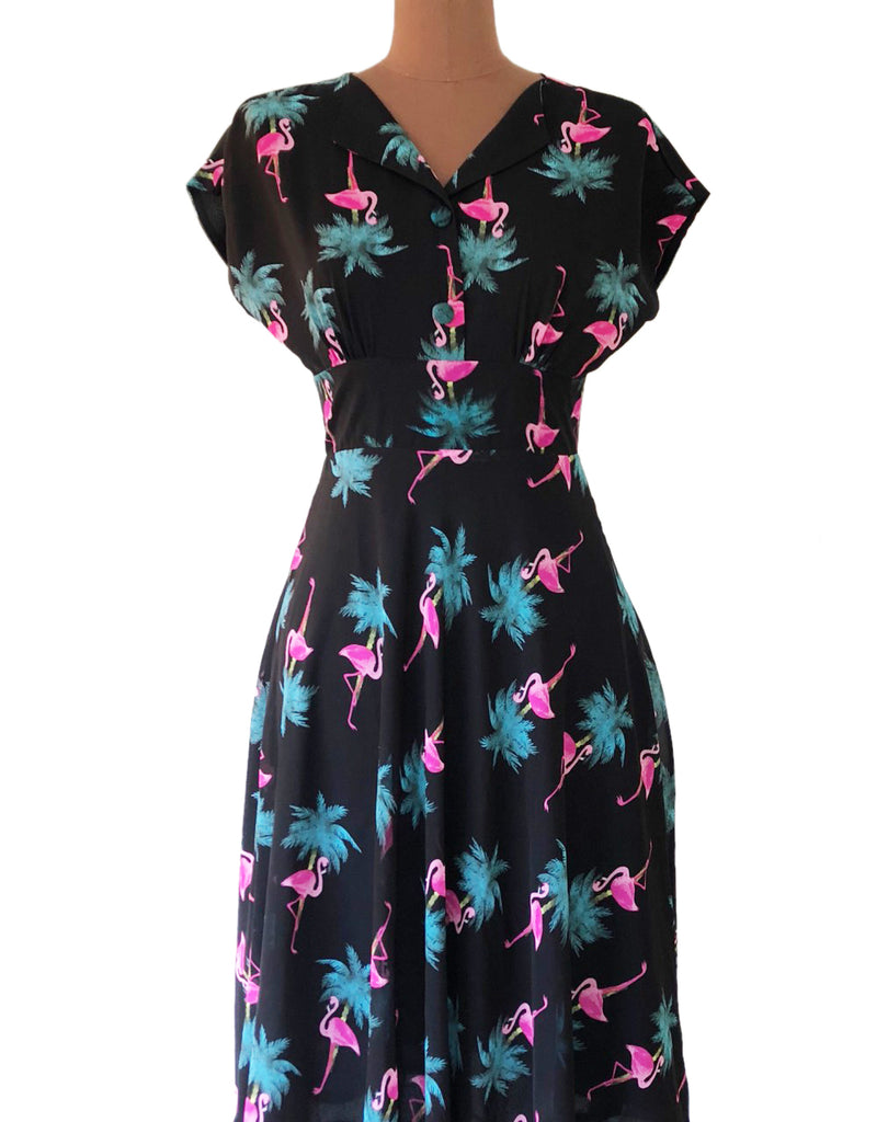 Dakota Flamingo Dress