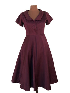 Evangeline Burgundy Dress