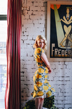 Load image into Gallery viewer, Sadie Mustard & Green Dress