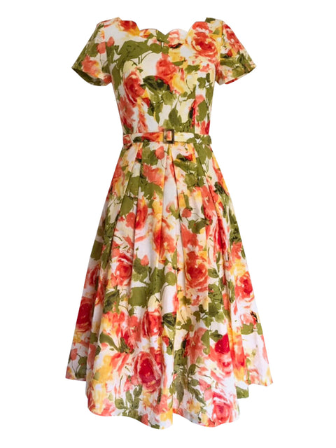 Laura Floral Dress Elise Design $118.00 Dresses