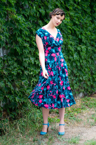 Viola Green & Fuchsia Dress