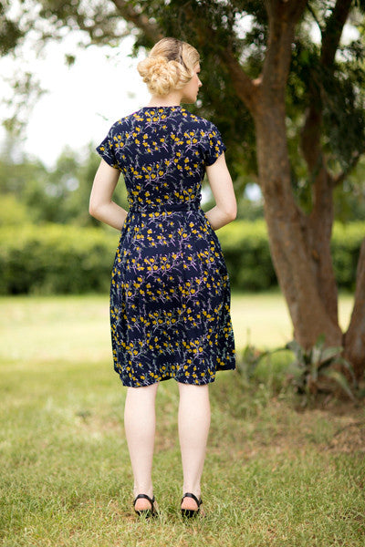 Fern Mustard & Navy Dress Elise Design $179.00 Dresses