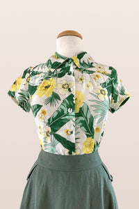 Yellow & Green Floral Blouse
