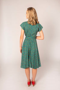 Manette Turquoise Floral Dress