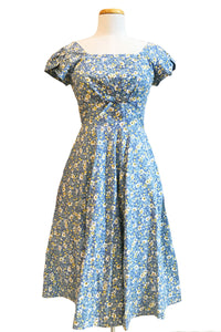 Astrid Blue & Yellow Floral Dress