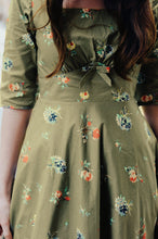 Load image into Gallery viewer, Astrid Green Floral Dress