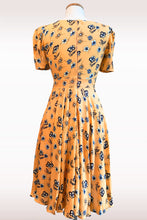 Load image into Gallery viewer, Beige & Blue Floral Dress