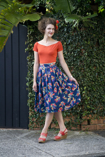 Birds Of Paradise Skirt Elise Design $105.00 Skirts