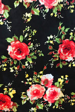 Load image into Gallery viewer, Black Floral Dress