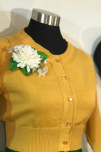 Load image into Gallery viewer, Peggy Cardigan Mustard