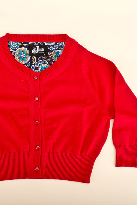 Peggy Cardigan Red