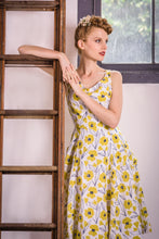 Load image into Gallery viewer, Chita Mustard & Cream Floral Dress