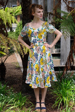 Load image into Gallery viewer, Clementine Mustard Floral Dress