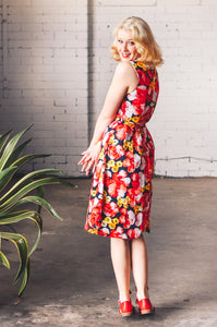 Dalena Red Floral Dress