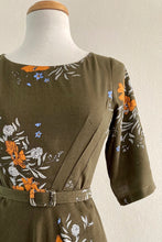 Load image into Gallery viewer, Doris Green & Orange Floral Dress